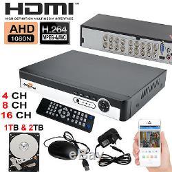 4/8 / 16ch Cctv 5 Dans 1 Système De Surveillance De Sécurité D'enregistreur Vidéo De 1tb 2tb Hdd