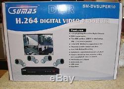 4 Caméra Système De Sécurité Avec Digital Video Recorder Voir Remotely Nouvelle Nouvelle