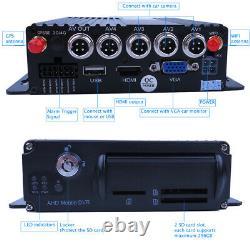 4ch Gps Wifi 1080p Ahd Sd Dvr Enregistreur Vidéo En Temps Réel Mdvr View 4 Caméras