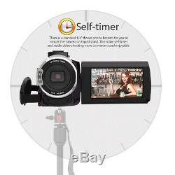 4k 1080p 48mp Caméscope Numérique Enregistreur 0.39x Grand Angle 16x I0x1