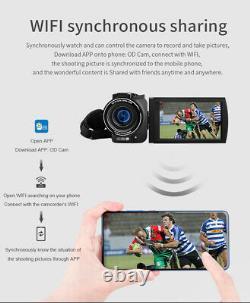 4k Ordro Vlog Caméra Vidéo 100x Digital Zoom Camcorder Enregistreur Cam Controller