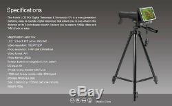 5 Tft 50x Numérique Telescope Hd 1080p Jumelles Photo Vidéo Recorder + Carte De 8 Go
