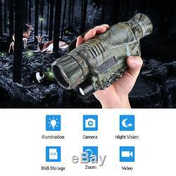 5x40 Numérique De Vision Nocturne Infrarouge Télescope Monoculaire Caméra 8 Go Video Recorder