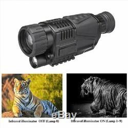 5x40 Numérique Ir De Vision Nocturne 200m 5xzoom Hunting Caméra Video Recorder