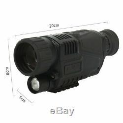 5x40 Numérique Night Vision Dvr Enregistrement Vidéo Portée Ir Monoculaire Zoom 200m Gamme Royaume-uni