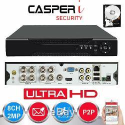 8 Canaux 1080n Cctv Dvr 5in1 Enregistreur Vidéo Numérique Avec Disque Dur En Option Uk Stock