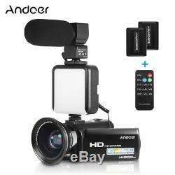 Andoer Full Hd 1080p 24mp Caméscope Numérique Caméscope Enregistreur Domestique Hdv
