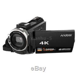 Andoer Wifi 4k Hd 48mp Vidéo Numérique Caméscope Enregistreur Enregistreur DV Dvr MIC