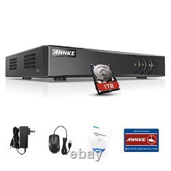 Annke 8 Canaux Cctv Dvr 1080p Lite Enregistreur Vidéo Numérique +1 To Disque Dur Avec