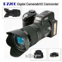 Appareil Photo Numérique Dslr Polo D7200 33.0mp 1080p +3 Objectifs + Enregistrement Vidéo Sportlight À Led