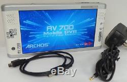 Archos Av700 Dvr Enregistreur Vidéo Numérique Mobile 40 Go, 7 Pouces, Av 700 Vgc (500885)
