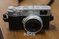 Argent Appareil Photo Numérique Fujifilm X100v Uhd 4k Enregistrement Vidéo Avec 1 An Au Royaume-uni Garantie