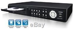 Avtech 4ch D1 Enregistreur Vidéo Numérique Dvr Usb DVD Backup Cctv Security 2tb Vga