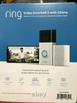 Bague Video Doorbell 2 Motion Détectée 1080hd Vidéo 2-way Talk Camera Avec Chime