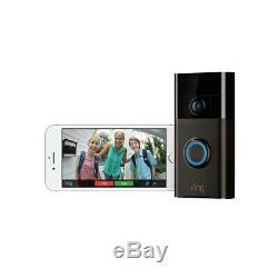 Bague Vidéo Sans Fil Sonnette Ios Motion Sensor Alarm Fort Android App 2 Way Parlez