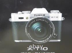 Boxed État De La Menthe Fujifilm X-t10 Digital Camera Body Silver + Stupéfiant