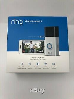 Brand New Video Ring 2 Sonnette 8vr1s7-0en0 Ring 2 (argent) Wi-fi Ship 2 Jours