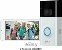 Brand New Video Ring Sonnette 2 Hd-fil Gratuit 1 An De Garantie 2-3 Jours Livraison