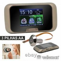Caméra Peephole Viewer Avec Écran LCD Photo Et Enregistrement Vidéo Velleman