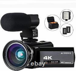 Caméra Vidéo 4k Caméscope Numérique Fhd Wifi Vlogging Cameras Recorder Avec Microp