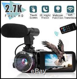 Caméra Vidéo Caméscope Numérique Youtube Vlogging Recorder Ultra Hd 2.7k 30fps 30m