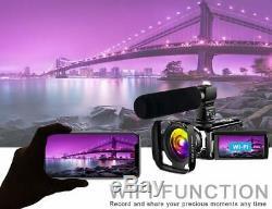 Caméscope 4k Caméscope Vlogging Enregistreur Numérique Ultra Hd 60fps Youtube Camer