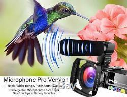 Caméscope Caméra Vidéo Caméra Ultra Enregistreur Numérique Hd 1080p Vlogging Youtube W