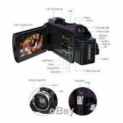 Caméscope Caméra Vidéo Enregistreur Numérique Grand Angle Macro Objectif Microphone 1080p
