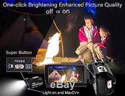 Caméscope Caméra Vidéo Ultra Hd 1080p Vlogging Youtube Caméra Enregistreur Numérique 2