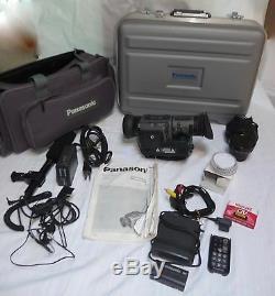 Caméscope Numérique Panasonic Ag-ez1 3ccd 20x Zoom Mic, Etui, Batt +