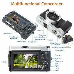 Caméscope Numérique Vlogging Recorder Youtube Hd1080p 30fps 24.0mp 3.0 I
