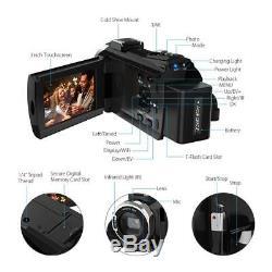 Caméscope Numérique Wifi 4k 16x + Microphone + Enregistreur Grand Angle Len DV