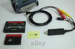 Caméscope Sony Pour Le Transfert De Bande 8 MM Digital8 Minidv Hi8 À Un Ordinateur Usb Et DVD