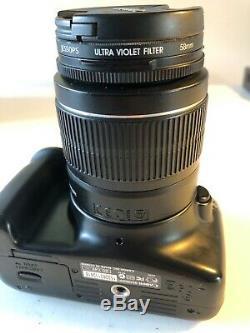 Canon Eos 1100d / Rebel T3 12,2 Mp Appareil Photo Reflex Numérique Avec Objectif 18-55mm Noir