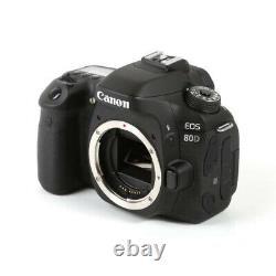 Canon Eos 80d Digital Slr Camera Body Full Hd 1080p Enregistrement Vidéo À 60 Fps Uk