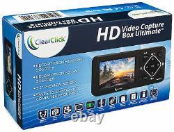 Clearclick Hd Video Capture Box Ultimate Hdmi Enregistreur Vhs Caméscope Vers Le Numérique