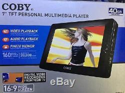 Coby Pmp-7040 Lecteur Multimédia Portable 7lcd Enregistreur Vidéo Numérique De Sécurité 40 Go