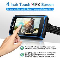 Digital Blueskysea 1080p Motorcycle Dash Camera Dual Lens 4inch Video Recorder
