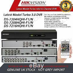 Dvr 4/8/16/32 Ch Hikvision Turbo Hd DVI Full 1080p Enregistreur Vidéo Numérique P2p