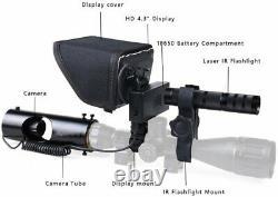 Écran Numérique Infrarouge De Portée De Fusil 4.3 Avec L'enregistreur Vidéo De Torche De Lampe De Poche