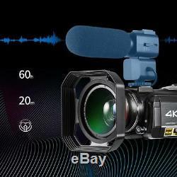 Enregistreur Caméscope Numérique Ordro Ac3 4k Uhd 24mp Wifi Wifi Vision Nocturne