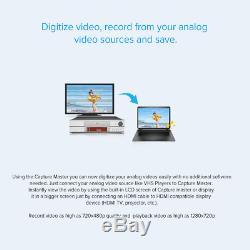 Enregistreur De Capture Audio Vidéo Tec Convertisseur Vhs Analogique Au Format Numérique Hdmi