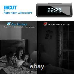 Enregistreur Vidéo 4k Ultra Hd Sans Fil Wi-fi Night Vision Dans L'horloge Numérique