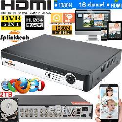 Enregistreur Vidéo Numérique Cctv Dvr 8/16 / 4ch 1080p 5 En 1 Hdmi Bnc Avec 1 To 2 To Hdd