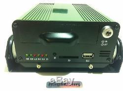 Enregistreur Vidéo Numérique De Sécurité Wcdma 3g De Sécurité Mobile Dvr 4ch Gps + 500gb Sim Shockproof