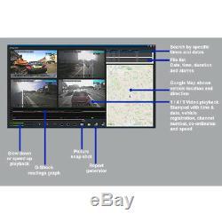Enregistreur Vidéo Numérique De Voiture De Taxi De Voiture De La Caméra Dvr De Cctv De 4 Canaux + Disque Dur De 1 To