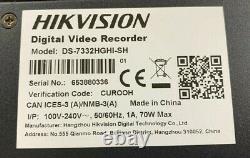 Enregistreur Vidéo Numérique Hikvision 32 Canaux Ds-7332hghi-sh Avec DVD Intégré Re