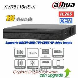 Enregistreur Vidéo Numérique Hybride 5in1 P2p Dahua Oem Xvr5116hs-x 16ch Xvr Dvr