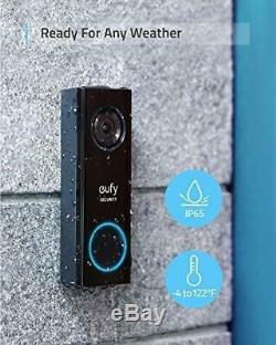 Eufy Sécurité Wi-fi Vidéo Sonnette Résolution 2k Réponse En Temps Réel Pas Mensuel