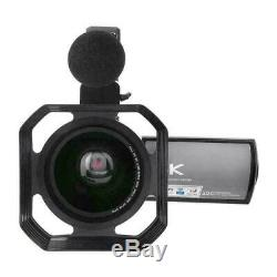 Hdr-ae8 3 4k Hd 16x Wifi Enregistreur Numérique Caméra Vidéo À Distance Caméscope Contrôle